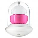 Ufo, Lampada portatile, rosa e bianco - Alessi