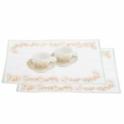 Set 2 tazze cappuccino + 2 tovagliette Eleganza - Thun