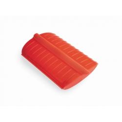 Astuccio per cottura con vassoio in silicone, rosso 1-2 persone - Lékué