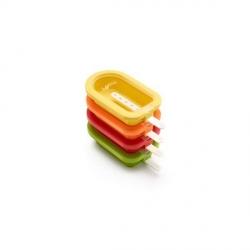 """Stampo ghiacciolo/gelato """"Mini"""" 4 pezzi assortiti in silicone - Lékué"""