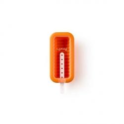 """Stampo ghiacciolo/gelato """"Barra"""" in silicone, arancione - Lékué"""