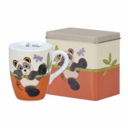 Mug con scatola in latta Panda - Thun