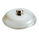 Coperchio vetro Cm. 20 pomolo inox - Pentolpress