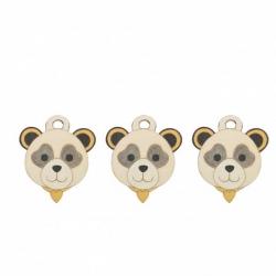 Confezione 3 chiudipacco Panda - Thun