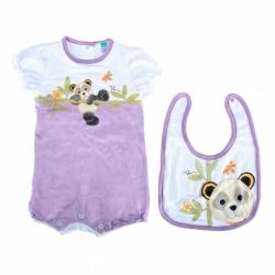 Gift set pagliaccetto + bavaglino Panda Girl - Thun