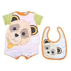 Gift set pagliaccetto + bavaglino Panda Boy - Thun