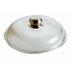 Coperchio vetro Cm. 28 pomolo inox - Pentolpress