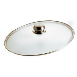 Coperchio vetro ovale pomolo inox - Pentolpress