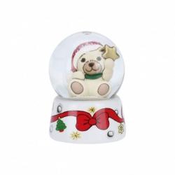 Mini palla di vetro Teddy con stella - Thun