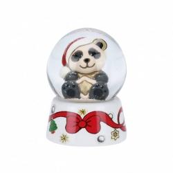 Mini palla di vetro panda con stella - Thun