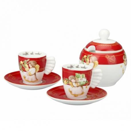 Tazzine EspressoZuccherieraDolce Thun Confezione 2 Natale QrCxBtshd