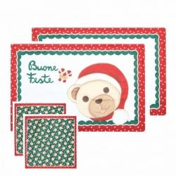 Set 2 tovagliette + 2 tovaglioli Storie di Natale - Thun