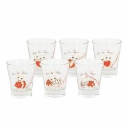 Confezione 6 bicchierini in vetro Estate - Thun