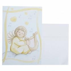 Biglietto d'auguri angelo con arpa - Thun