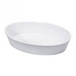 "Pirofila ovale in porcellana ""Burgund"" Cm. 20,5x14,5x6 - Kuchenprofi"