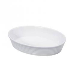 "Pirofila ovale in porcellana ""Burgund"" Cm. 30x20x6 - Kuchenprofi"