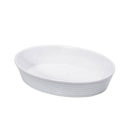 "Pirofila ovale in porcellana ""Burgund"" Cm. 35x23x6 - Kuchenprofi"