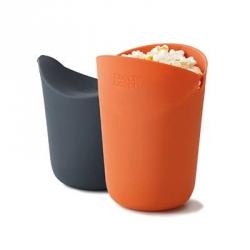 Popcorn Maker, Set di 2 contenitori per cucinare mono porzioni di popcorn a microonde - Joseph Joseph
