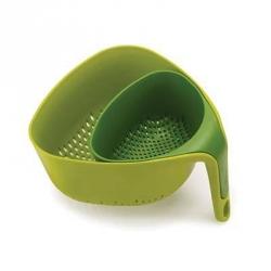 Nest colander, Set di 2 scolapasta verdi - Joseph Joseph