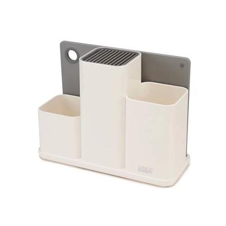 Counter store, Organizer bianco per utensili da cucina con tagliere...