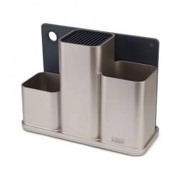 Counter store, Organizer acciaio per utensili da cucina con tagliere - Joseph Joseph