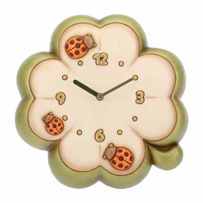 Orologio a forma di quadrifoglio thun idea regalo design for Costo orologio da parete thun