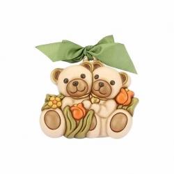 Formella media teddy con fiori - Thun
