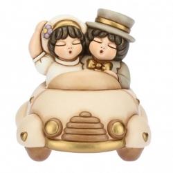 Coppia di sposini in macchina - Thun