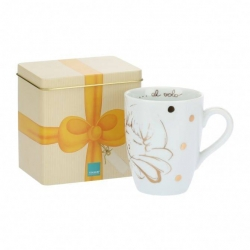 Mug in scatola in latta, Angel Gold - Thun