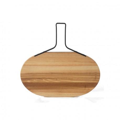 Mezzopieno, Tagliere grande (C) ovale in frassino olivato cm. 31X33,5X1,5 - Mopita