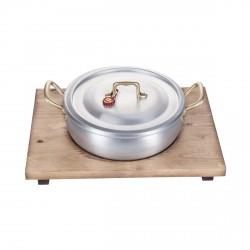 La risottiera, casseruola cm. 22 con vassoio legno - Mopita