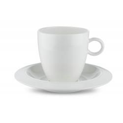 Bavero, Set 2 Caffe' Filtrato Con Piattino - Alessi