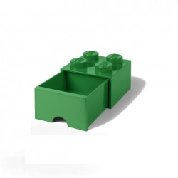 Contenitore Brick Drawer 4 bottoni, Verde - Lego