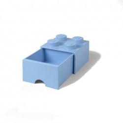 Contenitore Brick Drawer 4 bottoni, Azzurro - Lego