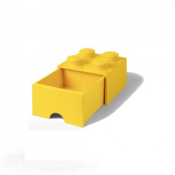 Contenitore Brick Drawer 4 bottoni, Giallo - Lego