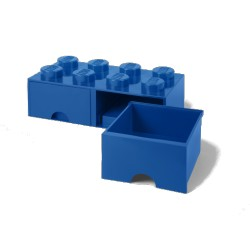 Contenitore Brick Drawer 8 bottoni, Blu - Lego