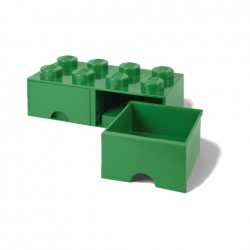 Contenitore Brick Drawer 8 bottoni, Verde - Lego