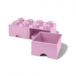 Contenitore Brick Drawer 8 bottoni, Rosa - Lego