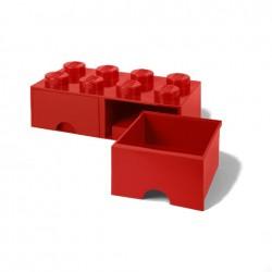 Contenitore Brick Drawer 8 bottoni, Rosso - Lego