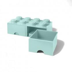 Contenitore Brick Drawer 8 bottoni, Azzurro - Lego