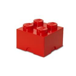 Contenitore Brick 4 bottoni, Rosso - Lego
