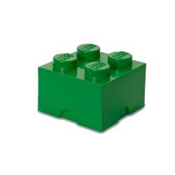Contenitore Brick 4 bottoni, Verde - Lego