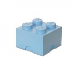 Contenitore Brick 4 bottoni, Azzurro - Lego