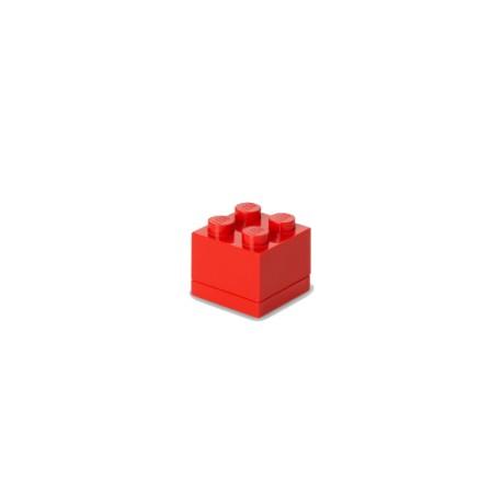 Contenitore Mini Box 4 bottoni, Rosso - Lego