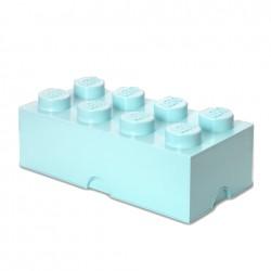 Contenitore Brick 8 bottoni, Azzurro acqua - Lego