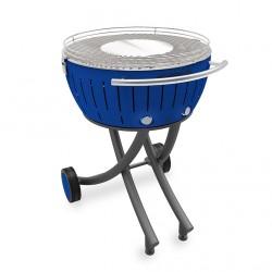 Barbecue a carbone XXL con ruote, blu - Lotus Grill