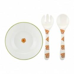 Confezione insalatiera + forchettone e cucchiaione Farfalla - Thun