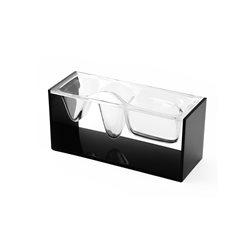 Liquid station - ufficio, Nero cristal - Lexon