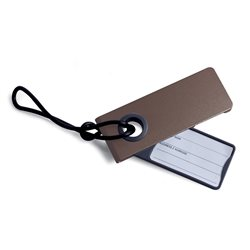 Neo porta etichetta per valigia, Marrone - Lexon