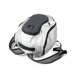Peanut borsa porta casco (variante unica), Argento - Lexon